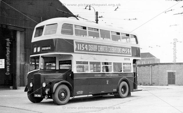 Derby Corporation motor bus No.100