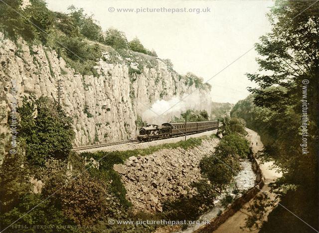 Midland Railway passenger train - Ashwood Dale near 'Lovers Leap'