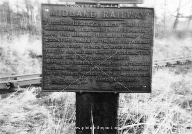 Midland Railway cast iron trespass sign