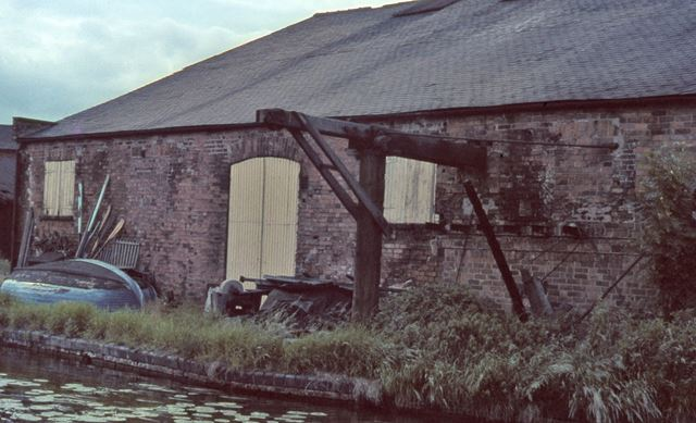 Warehouse along Trent and Mersey Canal, Shardlow, c 1960s