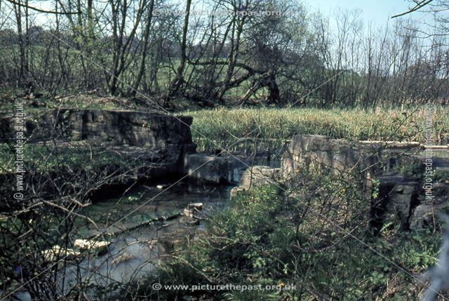 Head of Nutbrook Canal, Little Hallam, Ilkeston, 1971