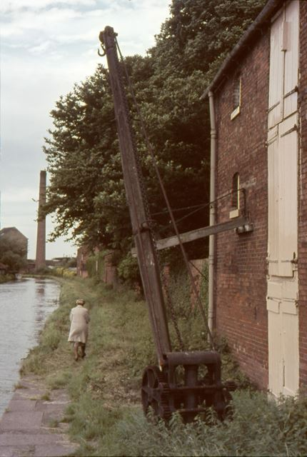 Old Hoist Hook, Trent and Mersey Canal, Shardlow, 1964