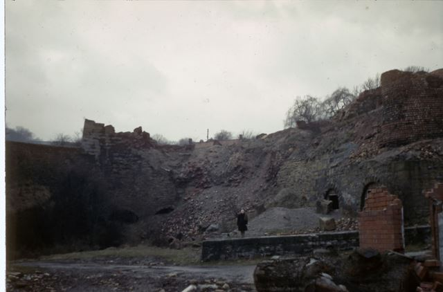 Lime Kilns and Rly Tip, Cromford Canal, Bullbridge, 1951
