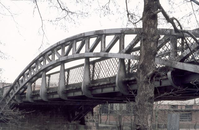 Handyside's Iron Bridge, Little Chester, Derby, 1977