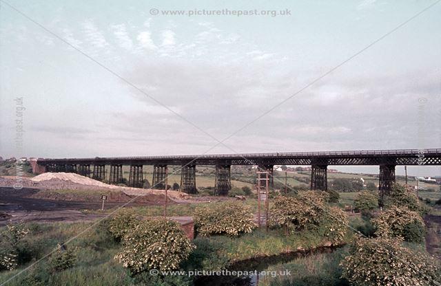 Great Northern Railway (GNR), Bennerley Viaduct, Awsworth, 1975