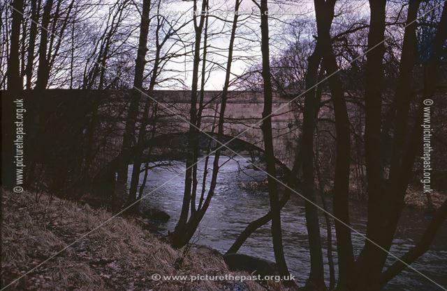 Wigwell Aqueduct, Cromford Canal, Lea, 1962