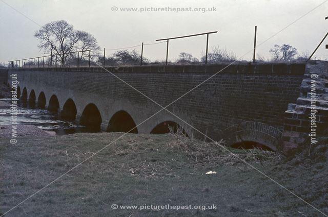 Aquaduct across River Dove, Trent and Mersey Canal, Monk's Bridge, nr Egginton, 1965