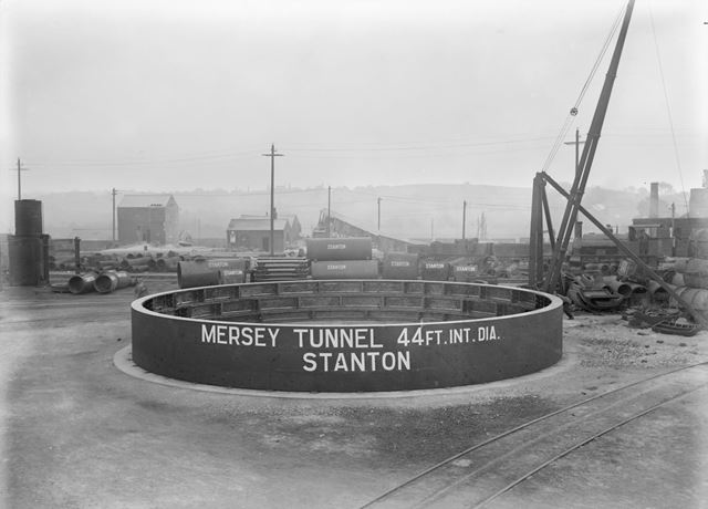 Cast Iron lining for Mersey Tunnel, Stanton New Works, 1928