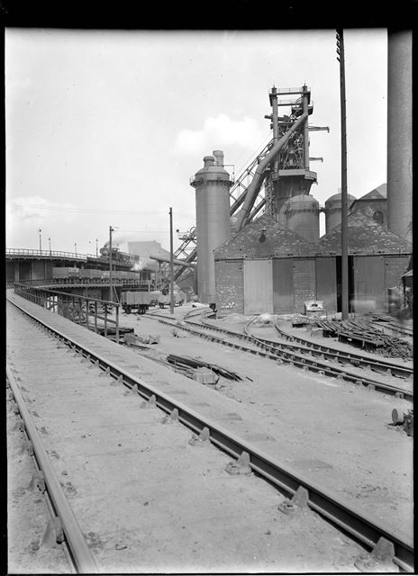 Railway lines at New Works blast furnaces
