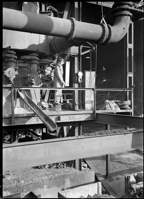 Pitot test at 18-foot spun plant