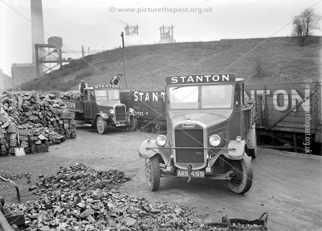 Stanton coal lorries at Landsales Depot