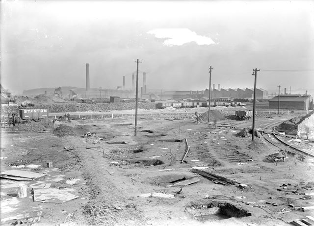 Construction work in Old Works Furnace Yard