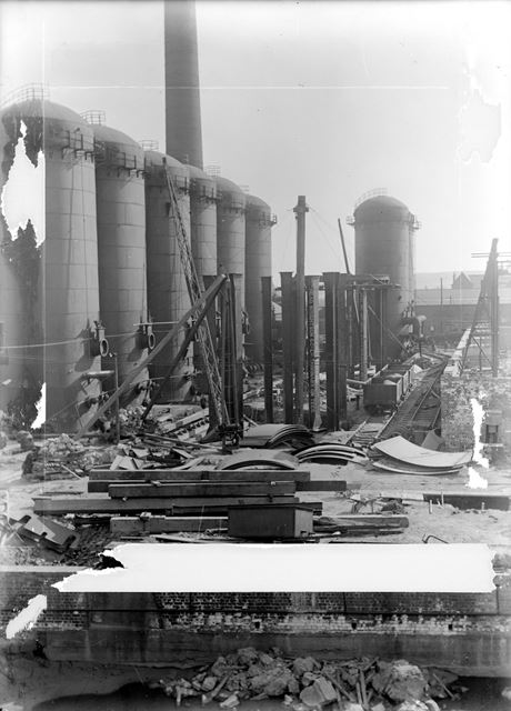 Construction work of new furnaces in Old Works Furnace Yard
