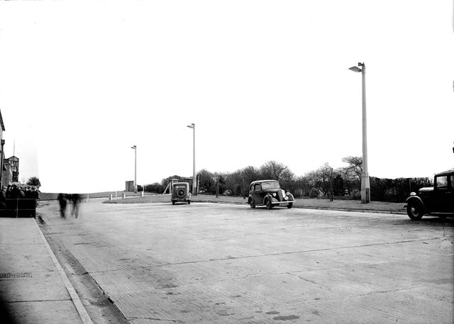 Car park at Silverhill Colliery, 1946
