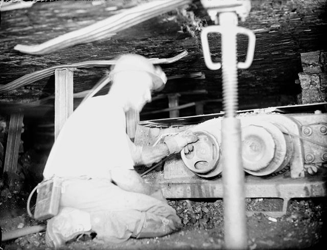 Coal Cutting Machine at Coal Face, Silverhill Colliery, Fackley, 1947