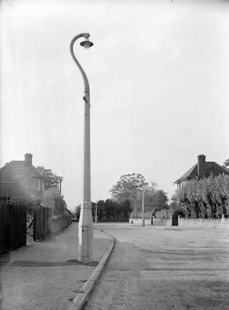 Concrete Lamp Column, Parkside, Wollaton, Nottingham, c 1940