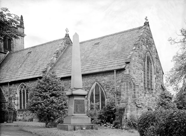 War Memorial and St. Michael's Church, Stanton-by-Dale, c 1945