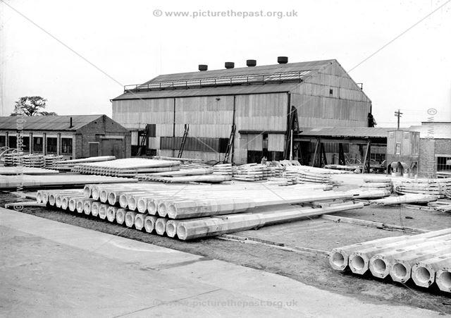Lamp Column Stockyard, Concrete Plant, Stanton Works, c 1930