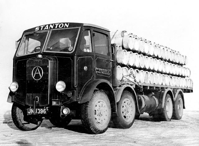Stanton Iron Works Company Lorry Loaded with Concrete Pipes, Low's Lane, Stanton Works, c 1940s