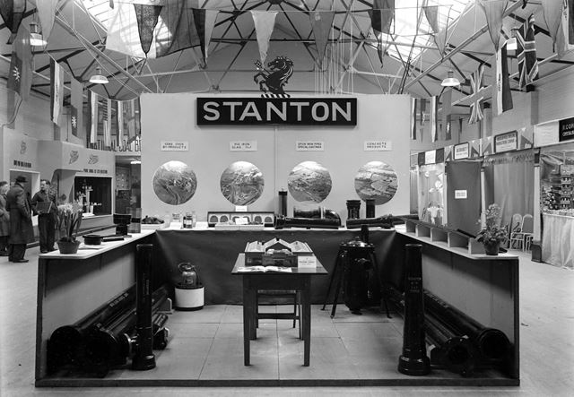 Stanton Ironworks Company Stand at Exhibition, Beeston, c 1948
