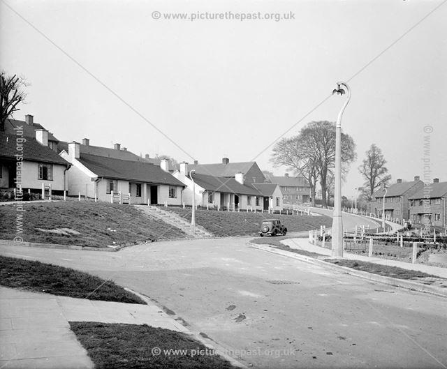 View North on Eliot Drive, Kirk Hallam, Ilkeston, c 1950s