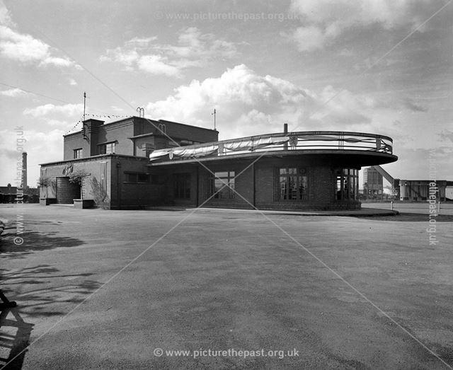 Stanton Institute Decked out for Coronation of Elizabeth II, Hallam Fields Road, Ilkeston, 1953