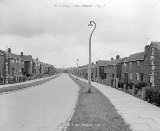Looking East, Wirksworth Road, Kirk Hallam, Ilkeston, c 1950s