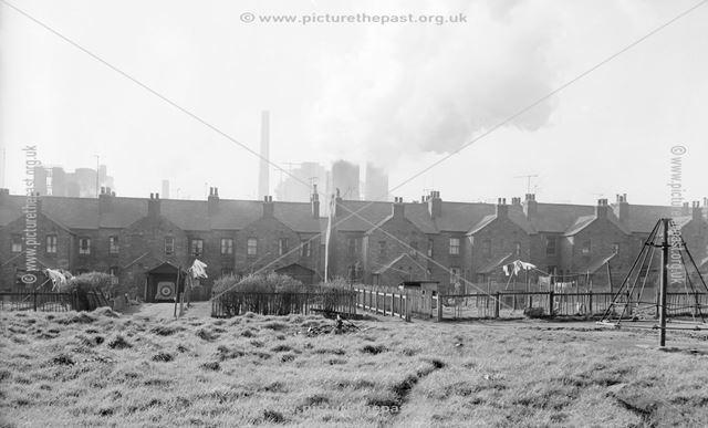 Houses in Crompton Street, Hallam Fields, Ilkeston, 1950s ?