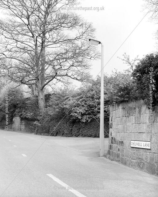 Stanton Concrete Lamppost, Chilwell Lane, Bramcote, c 1950s