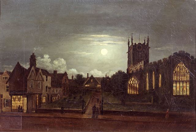 St Peter's Church by moonlight
