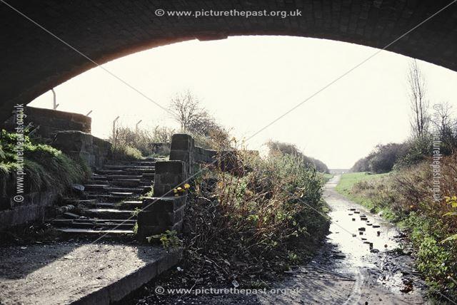 View from under Wilmorton Bridge on the Derby Canal - looking towards Allenton