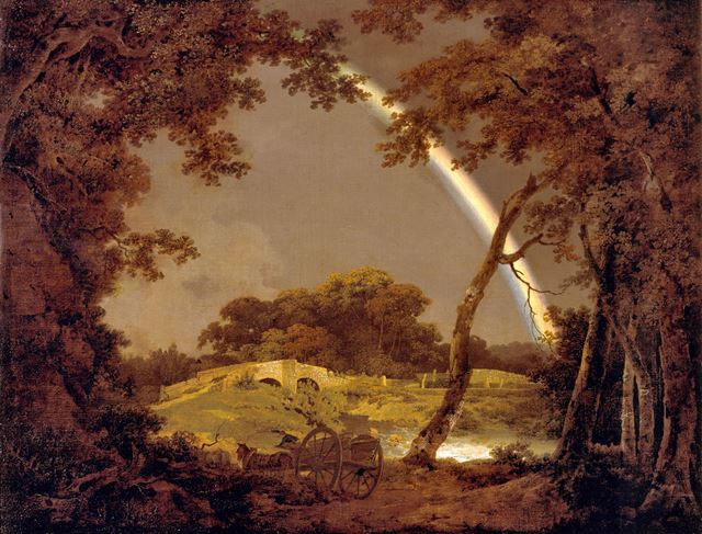 'Landscape with a Rainbow' By Joseph Wright of Derby