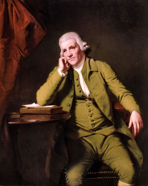 Jedediah Strutt - (Industrial entrepreneur - 1726-1797) - by Joseph Wright of Derby