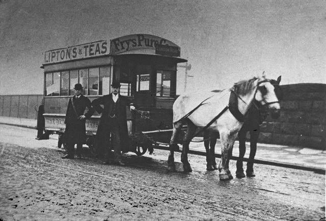 Horse tram, London Road