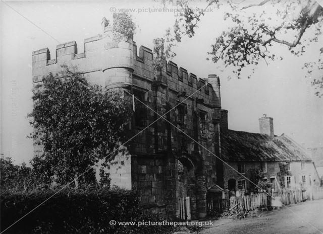 Mackworth Castle, Mackworth Village, 1860