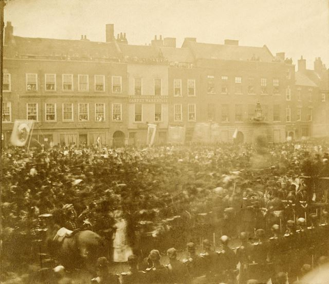 Peace Celebration Parade in 1856 after the Crimean War
