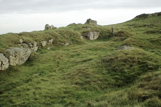 Harborough Rocks, site of an Iron Age settlement