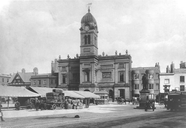 The Guildhall 'Town Hall' and Market Place, Derby