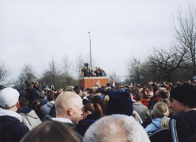 'Turning-up', Ashbourne Royal Shrovetide Football Match, Shaw Croft, Ashbourne, 2003
