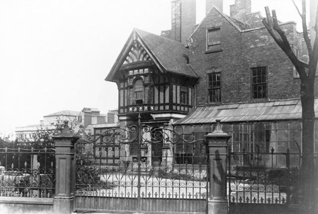 'Boden's House' or 'Abbott's Hill House' at the start of demolition.
