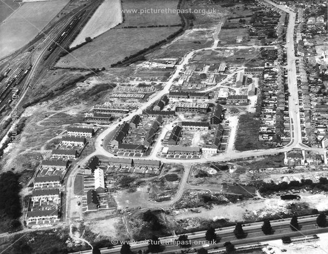 Albert Road Estate during construction
