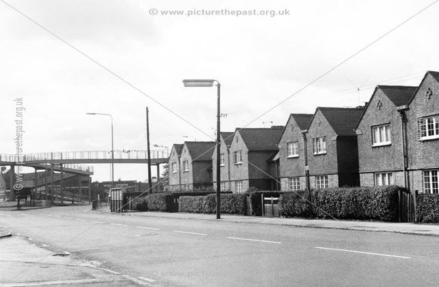 Osmaston Road showing footbridge over