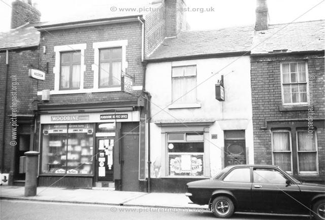 Ashbourne Road Post Office (no. 130) and Markeaton Fish Restaurant (no. 128)