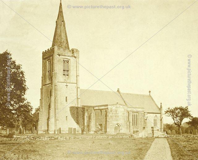 All Saints Church, Mackworth Village - Showing Richard Keene (?), the photographer, in the churchyar