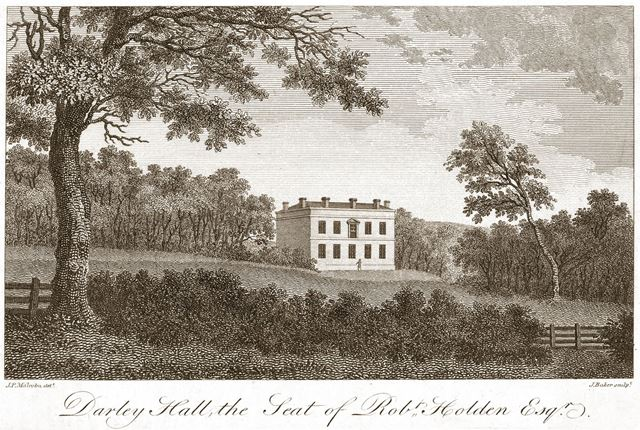 'Darley Hall, the seat of Robert Holden Esquire'