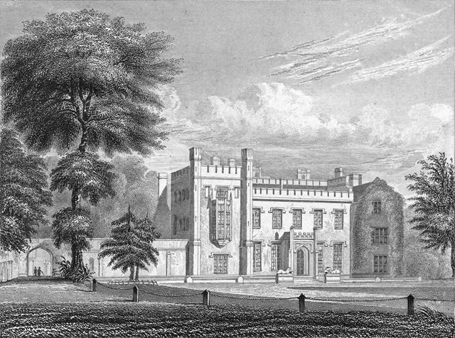 Elvaston Castle, south facade (showing the older original building on the right)