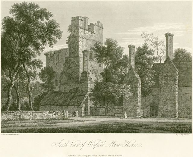 'South View of Wingfield Manor House'