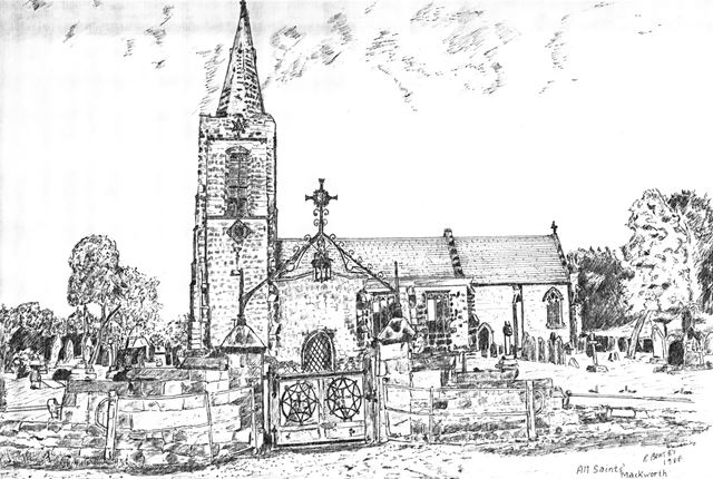 All Saints Church, Mackworth Village