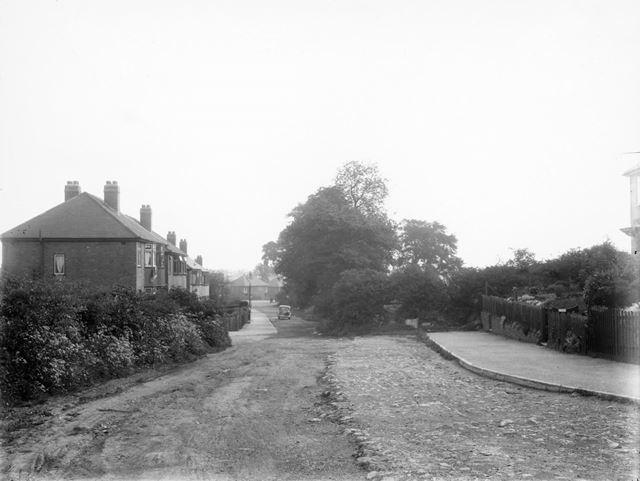 Constable Lane from Owlers Lane, Littleover, Derby, c 1930s