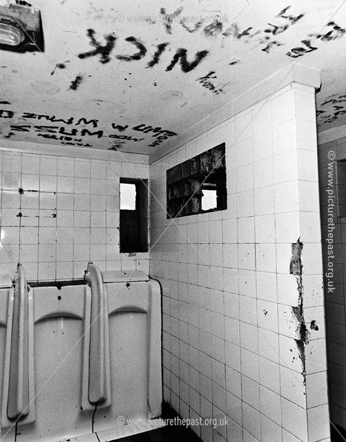 Vandalised public toilets